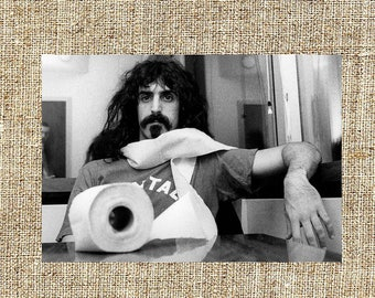 Frank Zappa photograph, black and white photo print, framed vintage photos, rock decor, gift for him, anniversary gift, unique wall decor