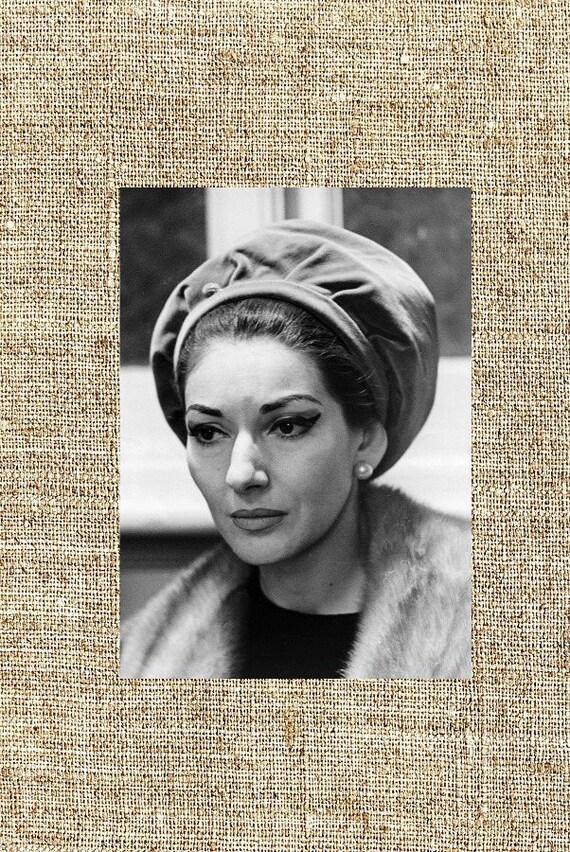 Maria Callas Fotografie gerahmt schwarz und weiß Foto-Druck