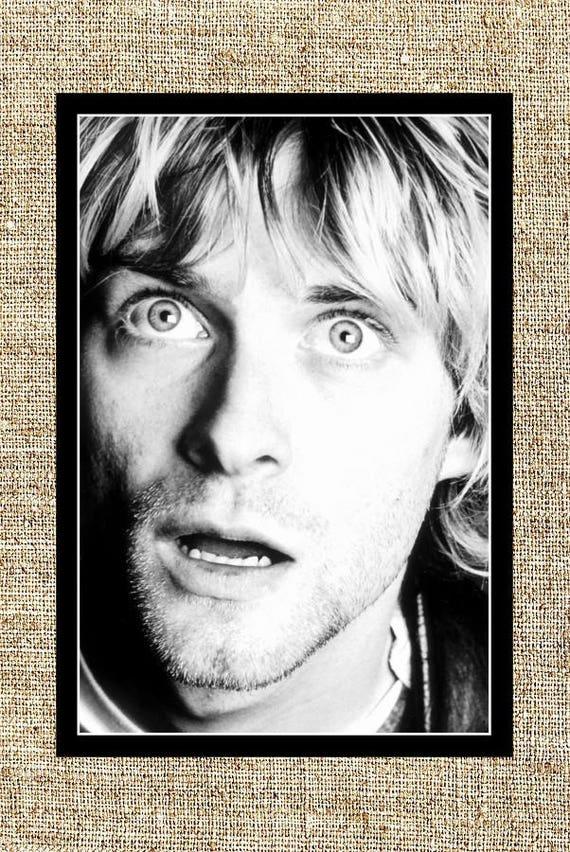 Kurt Cobain photograph black and white photo print vintage   Etsy