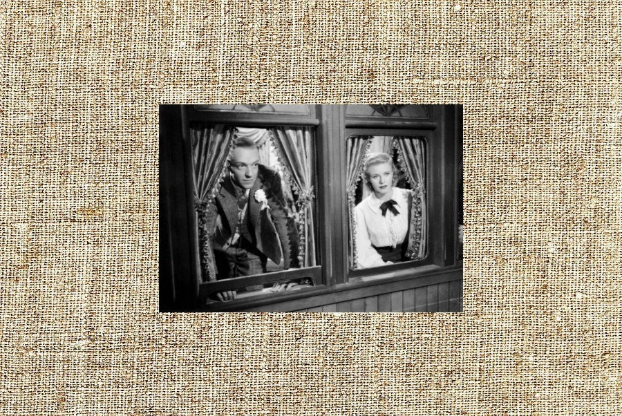 Ginger Rogers Fred Astaire Photograph Vintage Framed Photo Etsy