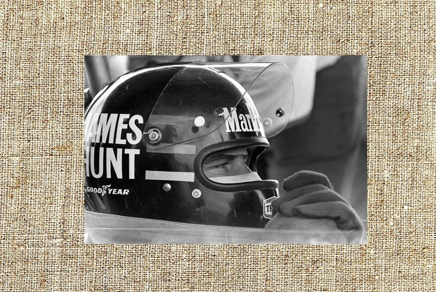 James Hunt photograph, James Hunt vintage photo print, Formula 1 legendary  drivers, anniversary gift for him/ her, office/ home wall decor