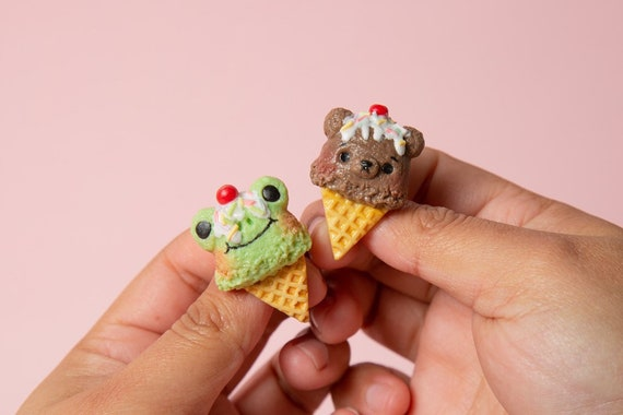 c9ab0d49 Cute animal ice cream pin cat, panda, frog, bear, bunny