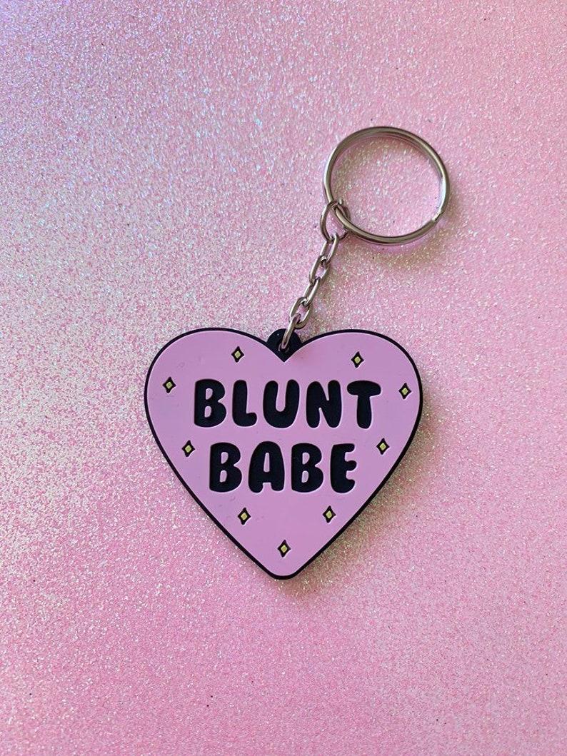 Blunt Babe 2 Keychain / Stoner Gift / Stoner Keychain image 0