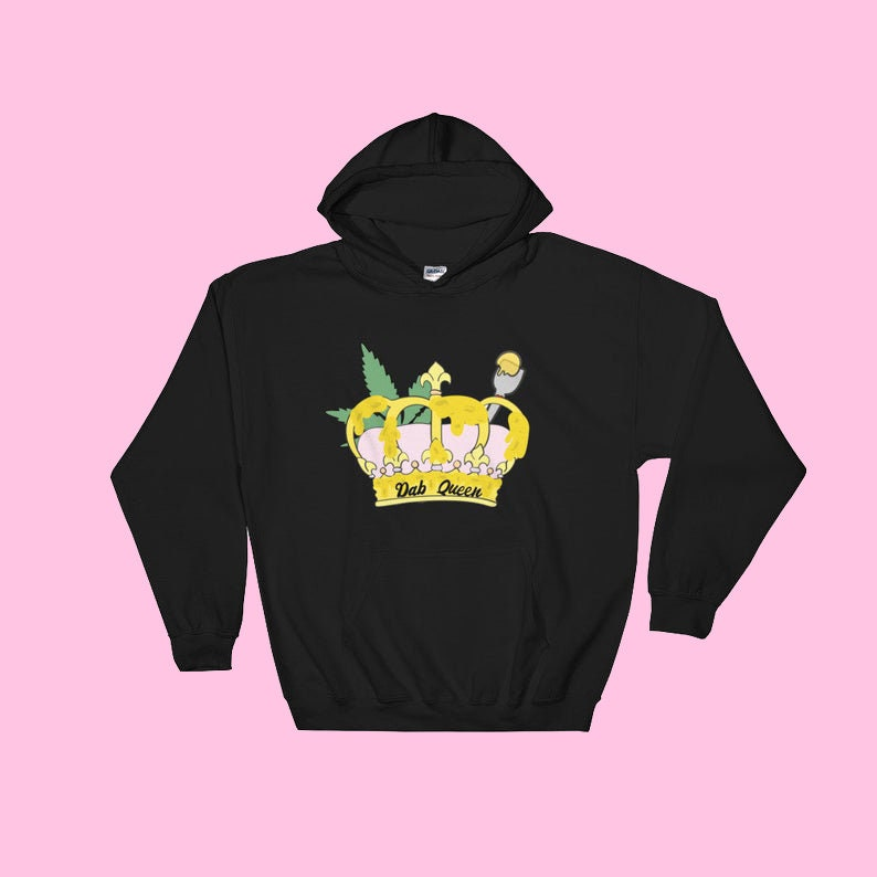 Dab Queen Unisex Hooded Sweatshirt Made to Order image 0