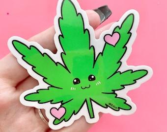 Weed Buddy Sticker, Vinyl Sticker, Stoner Sticker, Marijuana Sticker, Weed Laptop Sticker, Cute Laptop Sticker, Water bottle sticker