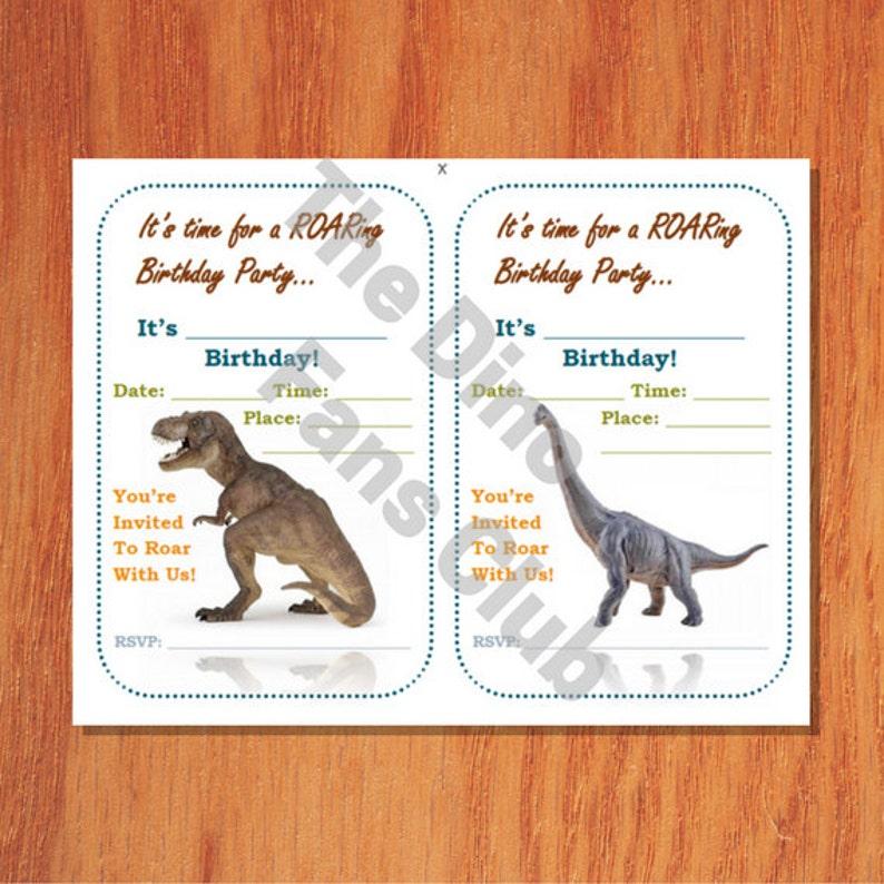 Dinosaur Birthday Invitation Instant Download Famous Etsy