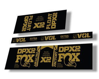 FOX Float X2 2019 Rear Shock Suspension Sticker Factory Decal Kit Orange
