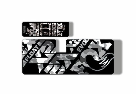 FOX Float X2 2019 Rear Shock Suspension Sticker Factory Decal Kit Camo