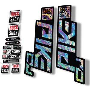 Rock Shox 30 2018 Fork Decal Mountain Bike Cycling Sticker Adhesive Oil Slick 1