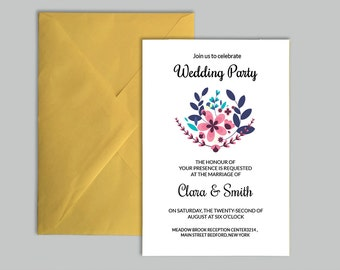 Sale Bridal Shower Invitation Template Diy Wedding Shower Etsy