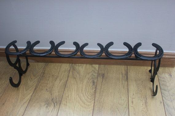 Horse Shoe Wellie Rack