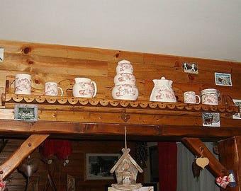 Handgemaakte houten kruk groen deco berg land cottage etsy
