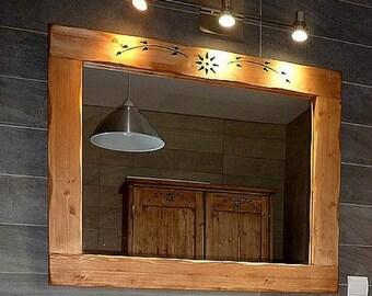 Ambachtelijke spiegel houten chalet berg ecologische deco etsy
