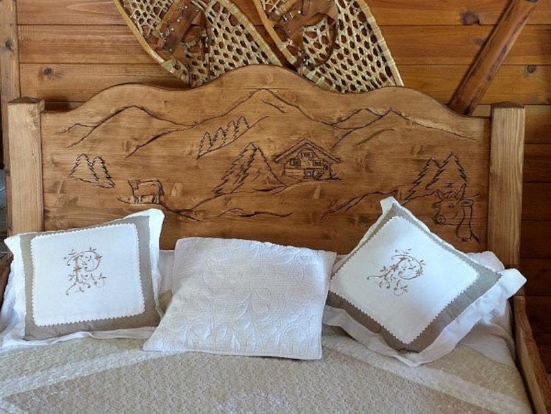Tête de lit artisanale en bois 100% écologique sur mesure deco | Etsy