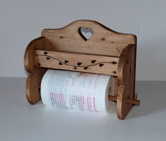 Dévidoir dérouleur de papier alu ou sopalin artisanal 100% bois ...