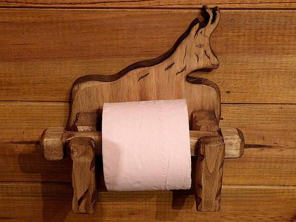 d vidoir d rouleur papier toilette artisanal en bois 100. Black Bedroom Furniture Sets. Home Design Ideas