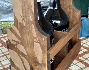 Handcrafted Growler Caddy