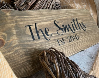 Family sign Custom, personalised family sign/plaque. Last name wall sign Custom family sign