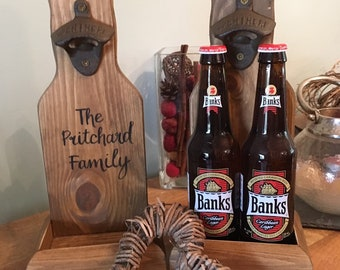Rustic wooden beer bottle opener, personalised housewarming, groomsman, Fathers Day, teacher gift or birthday gift for him. BEST MAN gifts