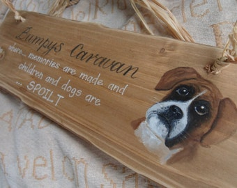 Grandad's House, custom wooden sign, hand painted designs, perfect Birthday, Fathers day gift for Dad, Grandad. Dog lovers gifts, boxer