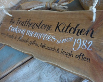 Gifts for the family, sit long, laugh much sign ,where life begins and Love never ends. Custom family sign/plaque. Keepsakes to treasure.