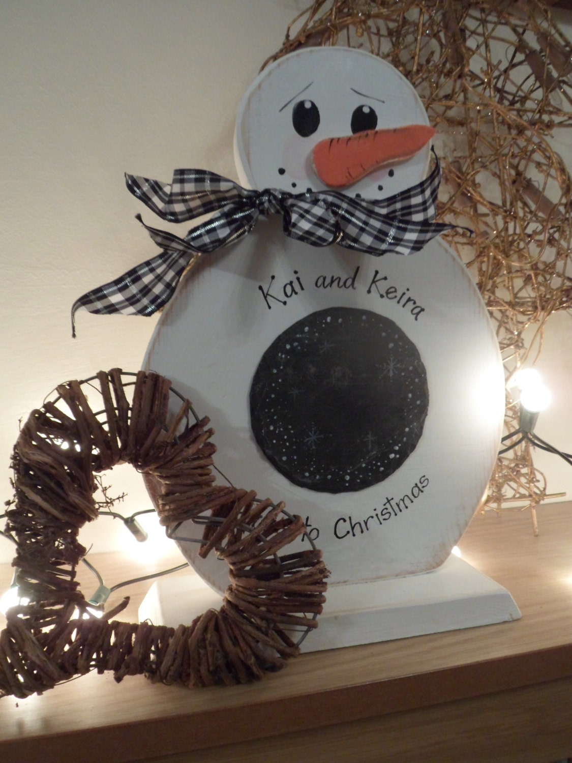 Wooden Snowman Christmas Decor A Countdown To