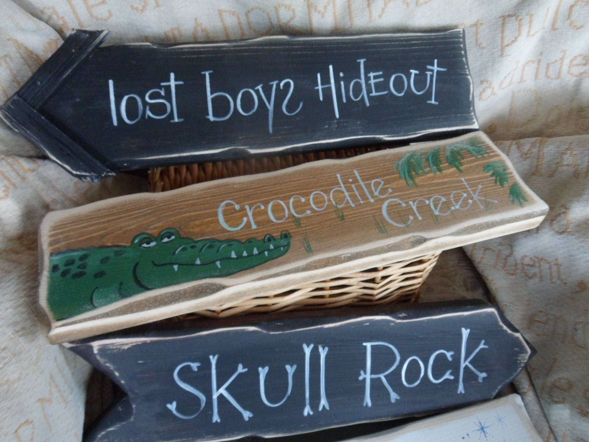 Peter Pan Inspired Single Amp Multi Pack Signpost Signs