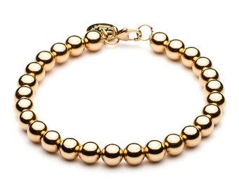 Ball bracelet • 6 mm • gold