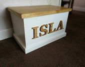 Personalised Toy Box Handmade with Soft Close Lid
