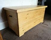 Blanket Box Storage Box Handmade Solid Wood