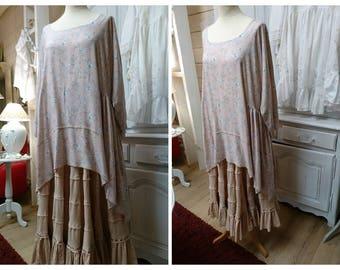 DRESS romantic Gothic LEONIE, hippie, Gypsy, shabby chic vintage