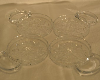 Fostoria American Lead Crystal Coasters with Spoon/Cigarette Rest - Vintage Item #2775  ON SALE NOW!!