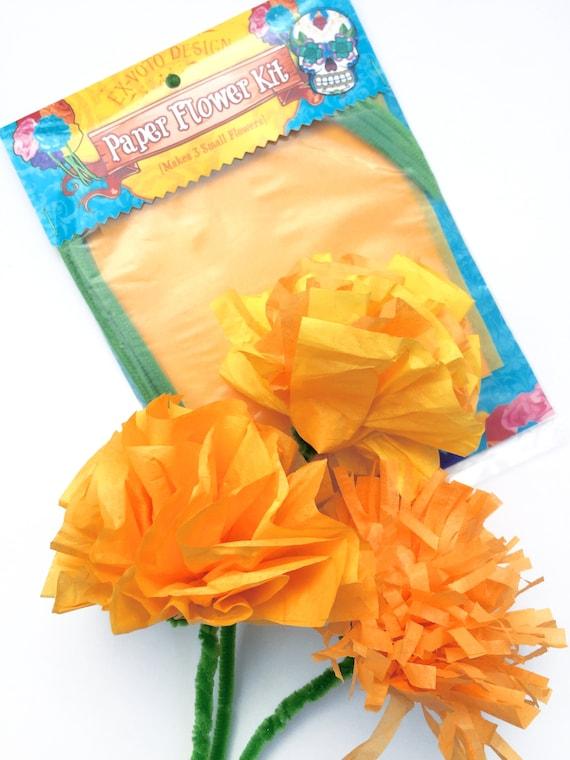 Dia de los muertos paper flower kit diy kit tissue paper etsy image 0 mightylinksfo