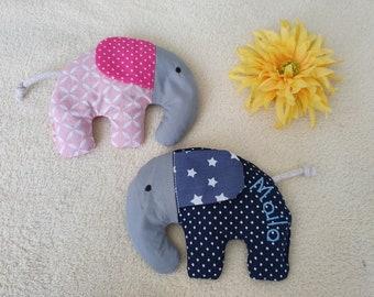 Elefanten Kältekissen 13 x 13 cm Dinkelkissen Wärmekissen ca