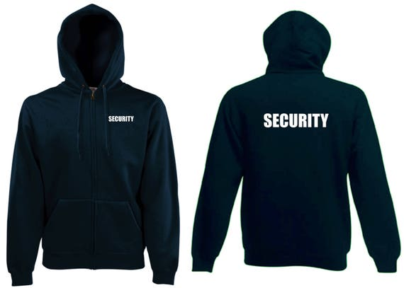 security zip hoody bouncer doorman nightclub guard minder etsy