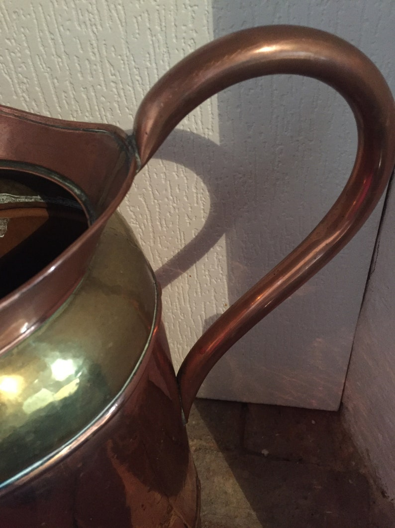 Signed by the Maker A Gorgeous Vintage Solid CopperBrass Coal ScuttleUmbrella Stand Made in France