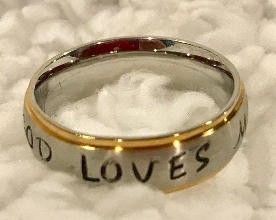 Christian Custom Stamped Stainless Steel Ring
