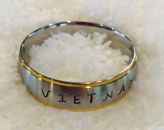 Custom Stamped Vietnam Stainless Steel Ring