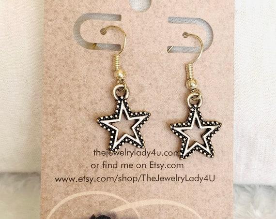 Clearance Star Dangle Earrings Hypoallergenic