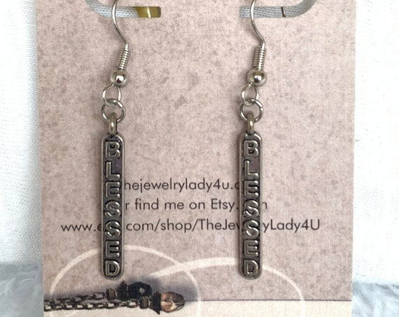 Clearance Blessed Dangle Earrings Hypoallergenic