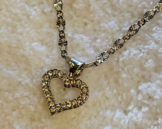 """Heart Pendant Necklace, Sterling Silver Filled 18"""" Chain, Lifetime Guarantee on Chain"""