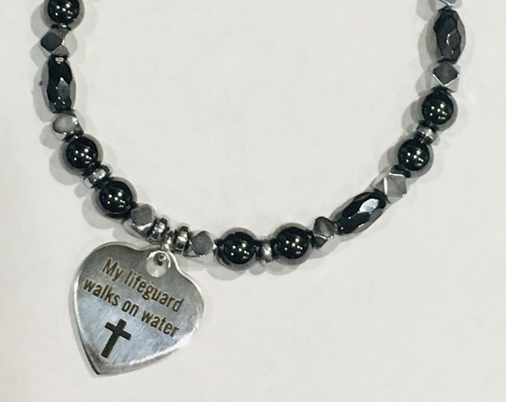 My Lifegaurd Walks on Water High Power Magnetic Hematite Therapy Anklet or Bracelet