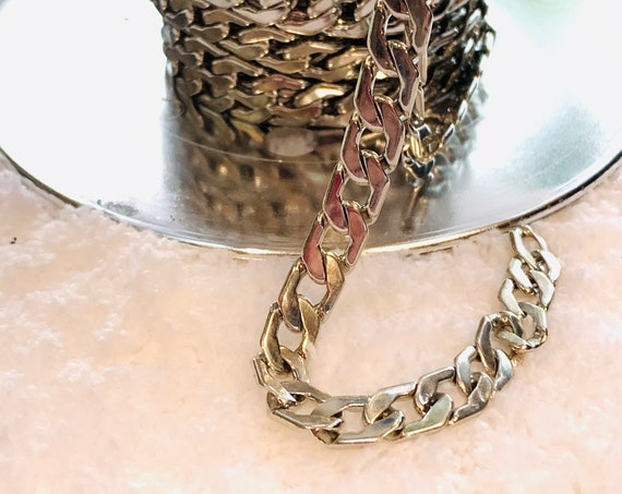 8MM Sterling Silver Filled Smooth Curb Chain, Lifetime Warranty