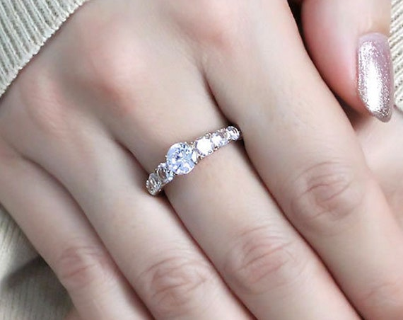 Stainless Steel Ring IP Rose Gold(Ion Plating) Women AAA Grade CZ Clear