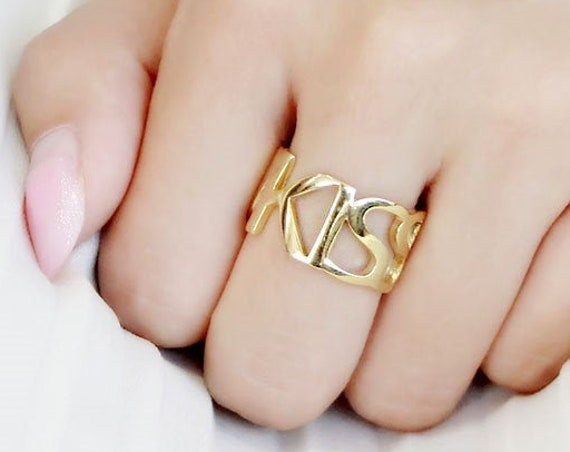 Stainless Steel Ring IP Gold(Ion Plating) Women