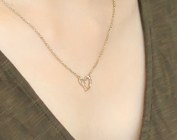 Stainless Steel Chain Pendant IP Gold(Ion Plating) Women AAA Grade CZ Clear
