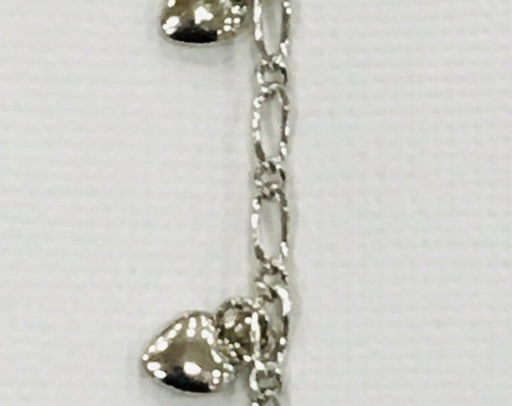 Lifetime Guarantee: Dangling Hearts Sterling Silver Layered Chain