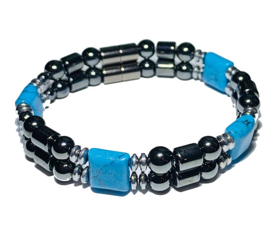 Turquiose Strong Magnetic Hematite Therapy Bracelet