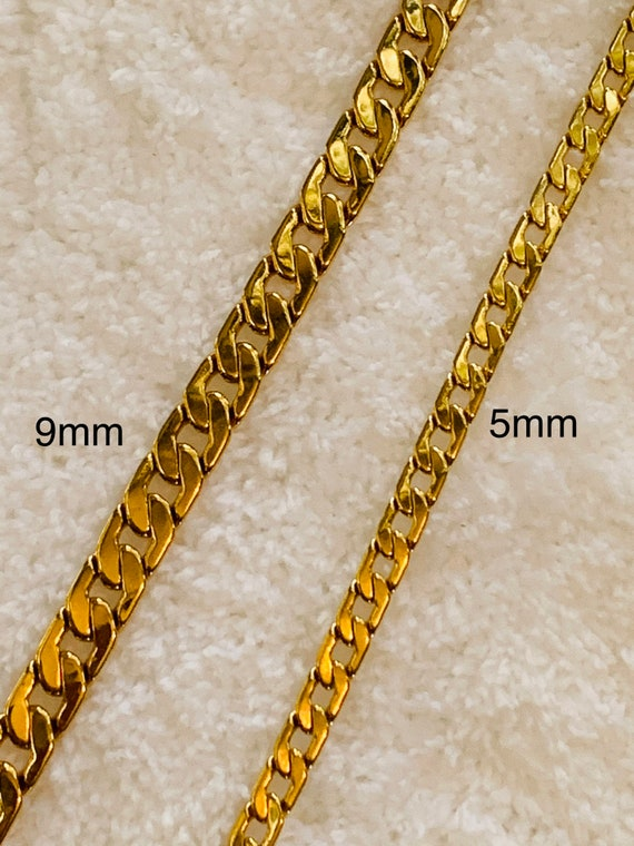 5 MM or 9MM Smooth Open Link 18k Gold Filled Chain with Lifetime Warranty