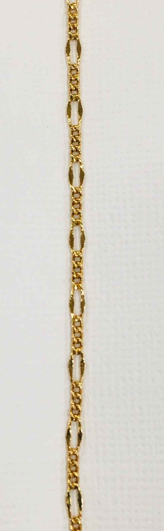 Lifetime Guarantee: 1MM Figaro 18k Gold Filled Chain